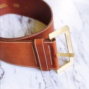 0f84aa4b4 Ted Baker Brown Leather Wide Waist Belt